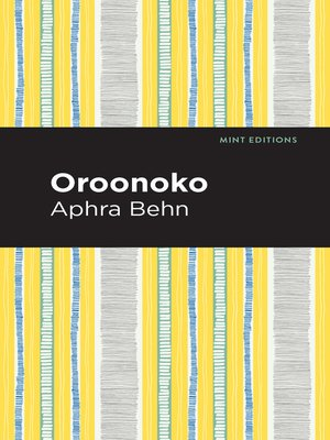 cover image of Oroonoko