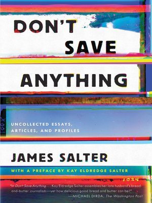 cover image of Don't Save Anything