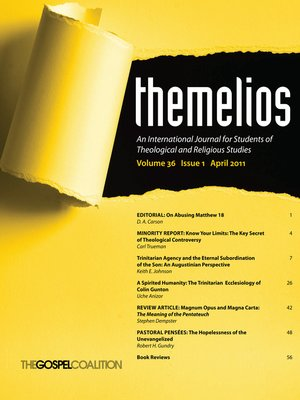 cover image of Themelios, Volume 36, Issue 1