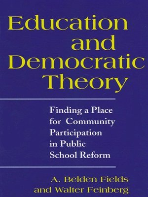 cover image of Education and Democratic Theory