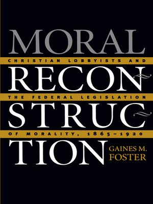 cover image of Moral Reconstruction