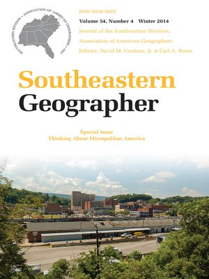 cover image of Southeastern Geographer
