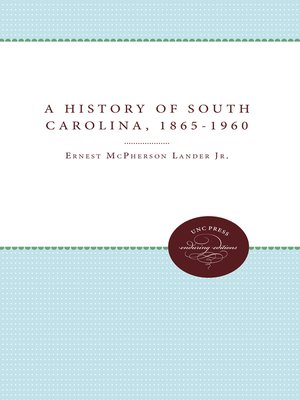 cover image of A History of South Carolina, 1865-1960