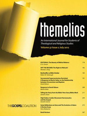 cover image of Themelios, Volume 37, Issue 2