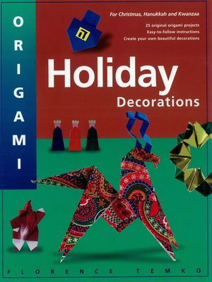 cover image of Origami Holiday Decorations