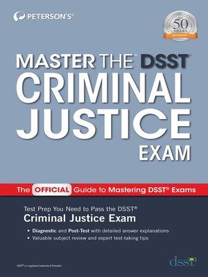 cover image of Master the DSST Criminal Justice Exam