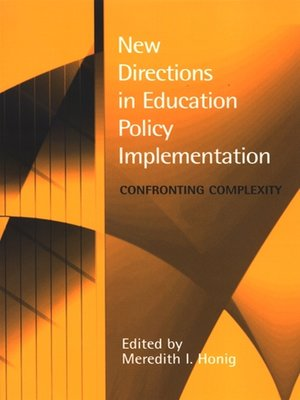 cover image of New Directions in Education Policy Implementation
