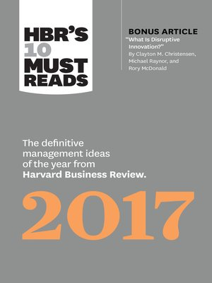cover image of HBR's 10 Must Reads 2017