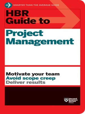 cover image of HBR Guide to Project Management