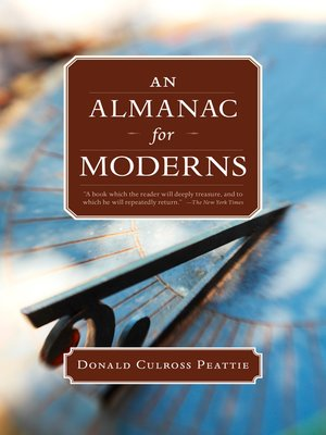 cover image of An Almanac for Moderns