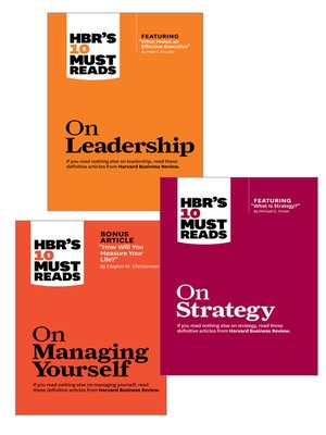 cover image of The HBR's 10 Must Reads Leader's Collection (3 Books)