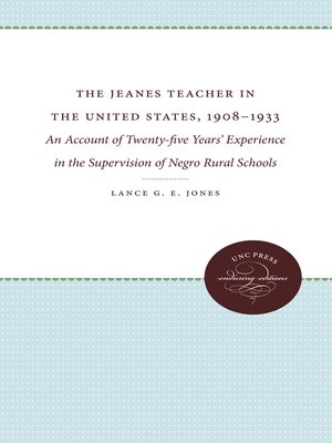 cover image of The Jeanes Teacher in the United States, 1908-1933