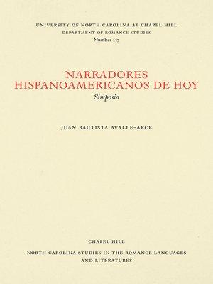 cover image of Narradores hispanoamericanos de hoy