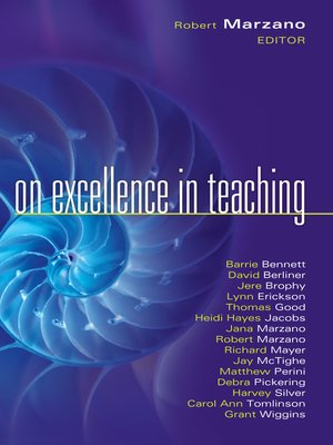 cover image of On Excellence in Teaching