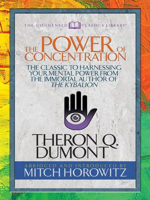 cover image of The Power of Concentration (Condensed Classics)