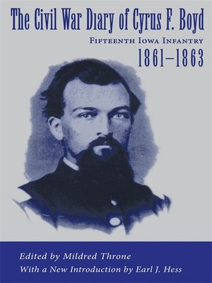 cover image of The Civil War Diary of Cyrus F. Boyd, Fifteenth Iowa Infantry, 1861-1863