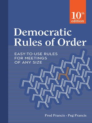 cover image of Democratic Rules of Order