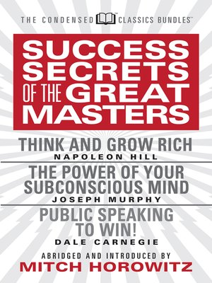 cover image of Success Secrets of the Great Masters (Condensed Classics)