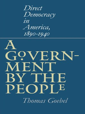 cover image of A Government by the People