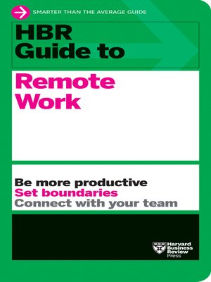 cover image of HBR Guide to Remote Work