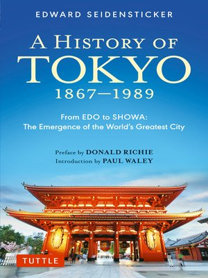 cover image of History of Tokyo 1867-1989