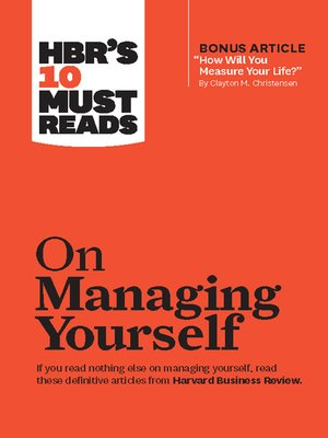 cover image of HBR's 10 Must Reads on Managing Yourself