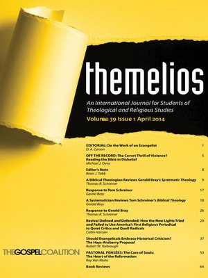 cover image of Themelios, Volume 39, Issue 1