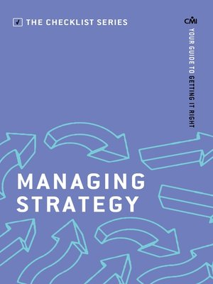 cover image of Managing Strategy