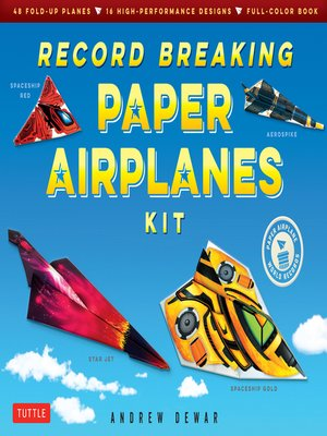 cover image of Record Breaking Paper Airplanes Ebook