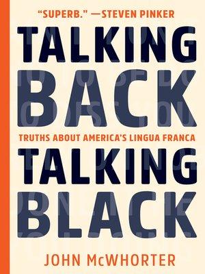 cover image of Talking Back, Talking Black