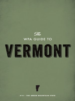 cover image of The WPA Guide to Vermont