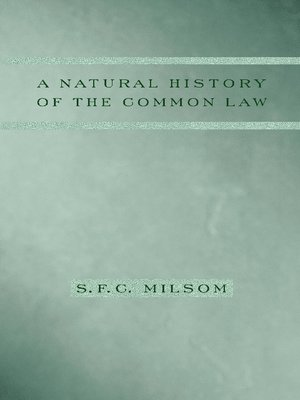 cover image of A Natural History of the Common Law