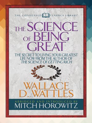 cover image of The Science of Being Great (Condensed Classics)