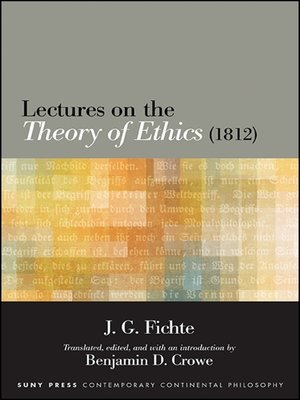 cover image of Lectures on the Theory of Ethics (1812)