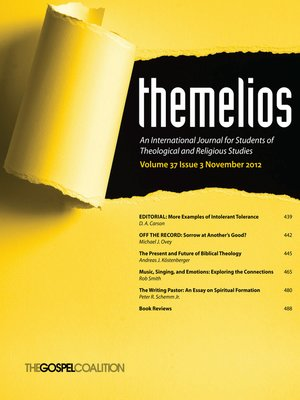 cover image of Themelios, Volume 37, Issue 3