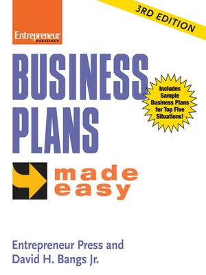 cover image of Business Plans Made Easy