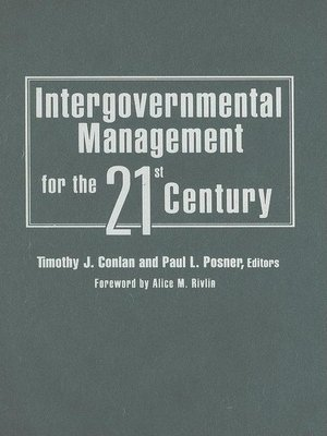 cover image of Intergovernmental Management for the 21st Century