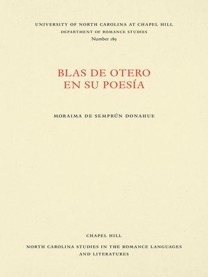 cover image of Blas de Otero en su poesía