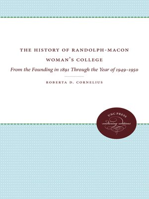 cover image of The History of Randolph-Macon Woman's College