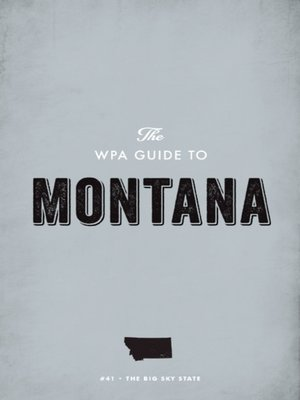 cover image of The WPA Guide to Montana