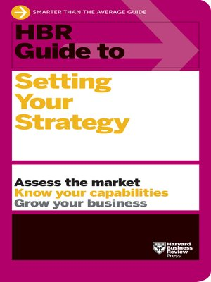 cover image of HBR Guide to Setting Your Strategy