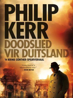 cover image of Doodslied vir Duitsland