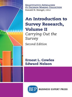 cover image of An Introduction to Survey Research, Volume II