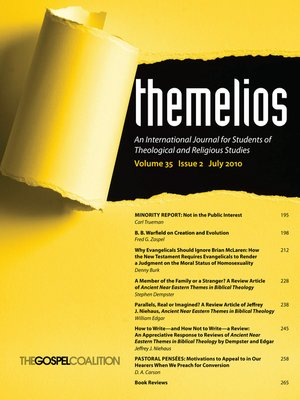 cover image of Themelios, Volume 35, Issue 2
