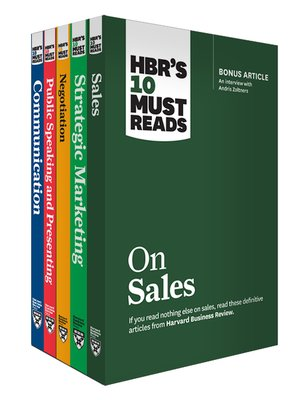 cover image of HBR's 10 Must Reads for Sales and Marketing Collection (5 Books)