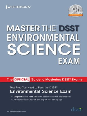 cover image of Master the DSST Environmental Science Exam