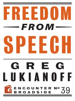 cover image of Freedom from Speech