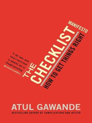 cover image of The Checklist Manifesto