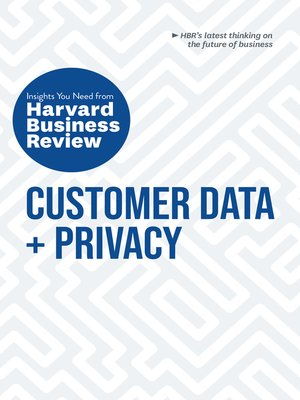 cover image of Customer Data and Privacy