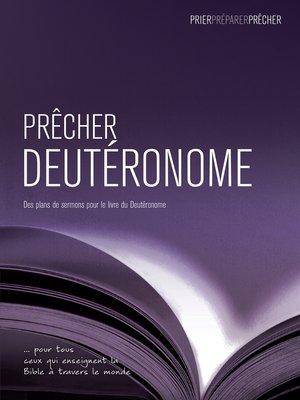 cover image of Prêcher Deutéronome